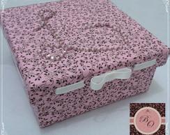 Caixa Passa-fita forrada de tecido
