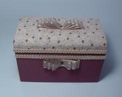 Ba� - Caixa De Tecido Ros�