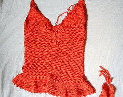 mini vestido de croch�+ calcinha