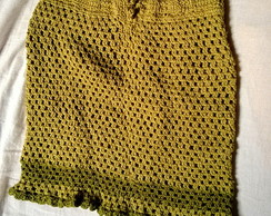 Saia Em Croch� Algod�o Verde