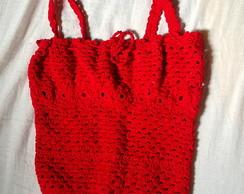 Top de croch� vermelho