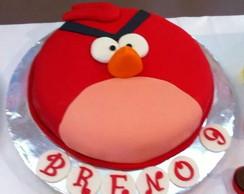 Bolo Decorado Angry Birds Vermelho