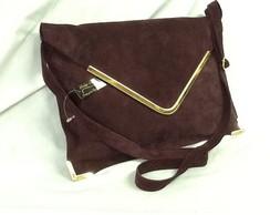 Bolsa carteiro camur�a couro (Ursula)