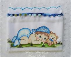 Fralda de amamenta��o beb� menino