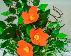 Arranjo de flores Amarilis em EVA