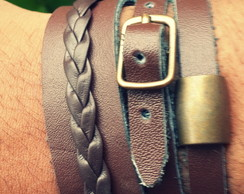 Pulseira Mix Brown Fivela 3