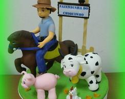 Topo de bolo - Fazendinha do Chiquinho