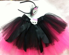 Saia Tutu Monster High com Tiara