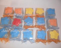 Lembran�as caixas acr�licas em biscuit