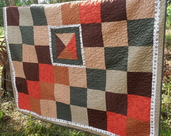 Manta patchwork para sofa