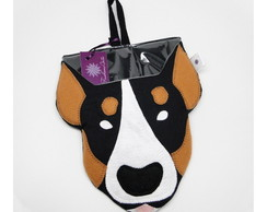 Lixinho plastificado - bull terrier -
