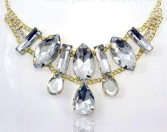 Maxi Colar C/ Pedras Cristal Brilhante