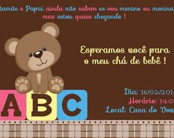 Convite Digital Ou Impresso Ch� de Beb�
