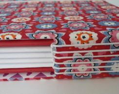 Caderno artesanal tecido