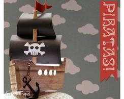 Navio Pirata [18cm de proa a popa]