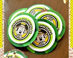 Tag Adesivo em Relevo Mickey Safari