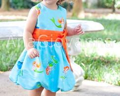 Vestido Pequena Sereia Baby