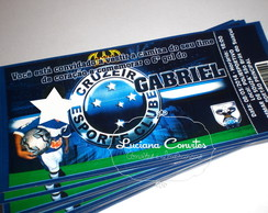 Convite Ingresso Cruzeiro