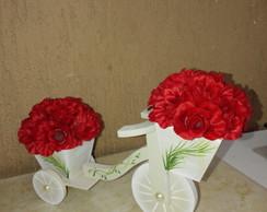 Arranjo flores bicicleta,
