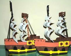 Brindes barco pirata em eva