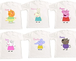 Camiseta Kit amigos da Peppa
