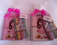 Caderno Personalizado com l�pis de cor