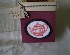 Convite Ch� de Cozinha Caixinha Vintage
