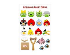 3 Cartelas de Adesivos Angry Birds