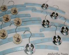 Cabides infantis cachorrinhos da Jolie