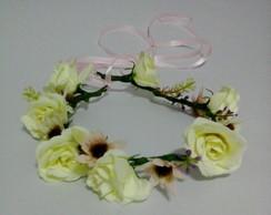 coroinha de flores