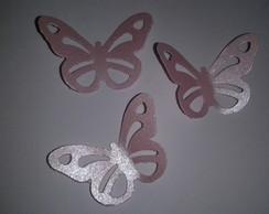 borboletas em papel perolizado (30 unid)