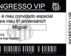 Convite Ingresso Santos FC