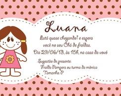 Convite Boneca Ch� de Fraldas