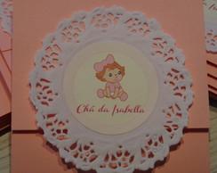 Convite Ch� de Beb� - Bonequinha