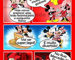 Convite Gibi Digital Minnie e Mickey