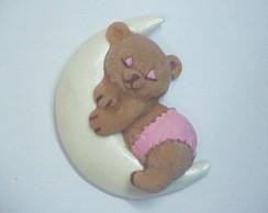 Lembrancinha em Biscuit Urso na Lua