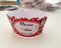 wrappers para cupcakes minnie vermelha
