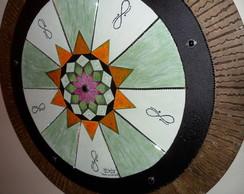 Mandala Quadro Tela Pintura - 80 Cm