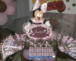 Kit Festa Minnie Marrom e Rosa