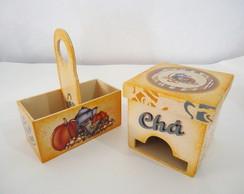 "Kit Porta Ch� e Porta Ado�ante ""Outono"""