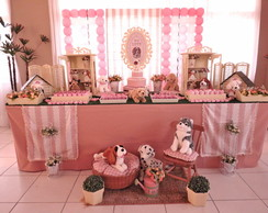 Decora��o Cachorrinhos - rosa