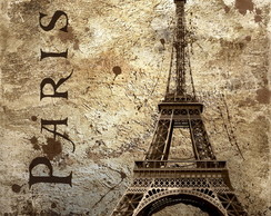 QUADRO VINTAGE-PARIS IS EIFELL-(45 X 45)