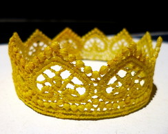 Coroa RENDA amarela 26,5cm