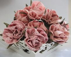 Rosas de tecido