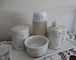 Kit Higi�ne beb� em porcelana(retangular