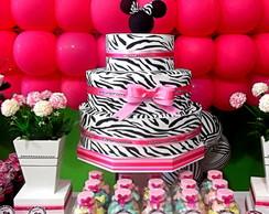 Bolo Fantasia de Zebra ( Minnie )