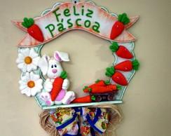 Guirlanda P�scoa Coelho e suas cenouras