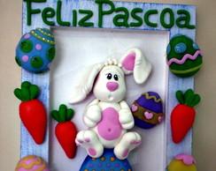 Quadro Coelho e seus ovos de P�scoa