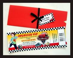 Convite Carros - Ingresso