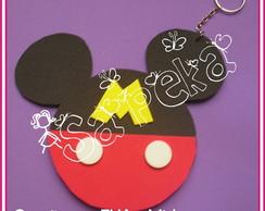 Convite Mickey e Minnie - Chaveiro